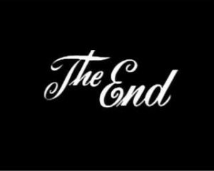C'est la fin!