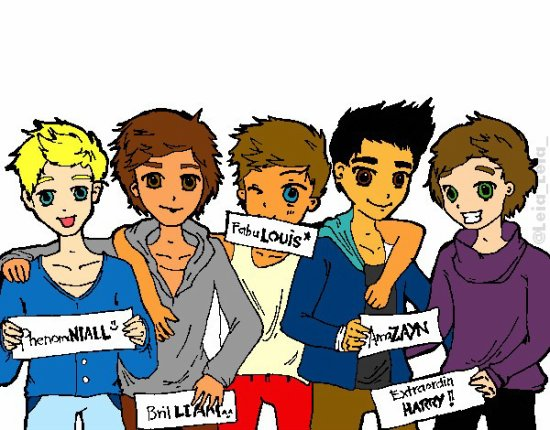 LET'S PAINT! The guys of One Direction