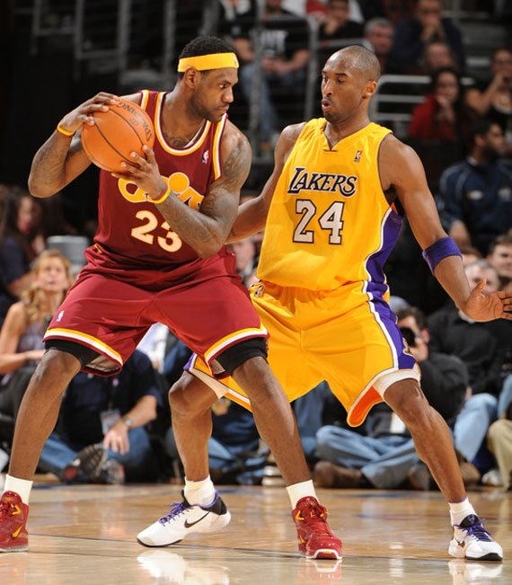 Basket : LeBron James vs. Kobe Bryant
