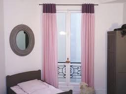 Rideau rose et violet pour chambre d 39 ado ou d 39 adulte - Rideau chambre ado ...