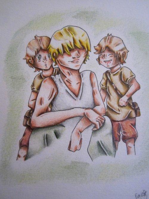 Un raton-laveur, des jumeaux et Helmut