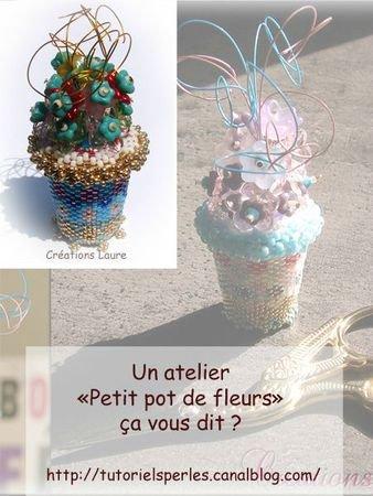 """Atelier """"petit pot de fleurs"""""""