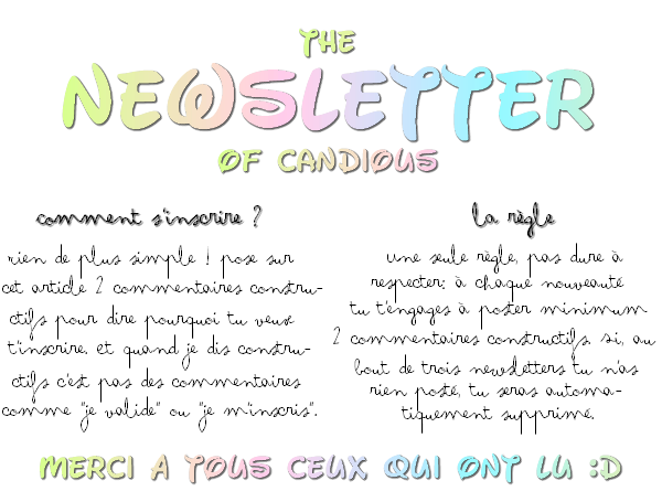 La newsletter du blog