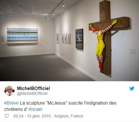 En Israël, la statue du « McJesus » est accusée de blasphème