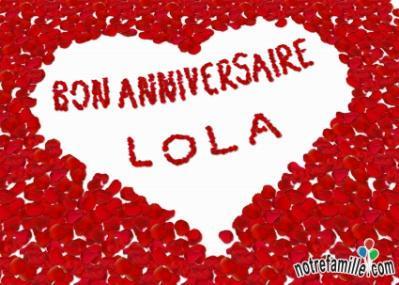 Joyeux Anniversaire Lola Ma Derniere Petite Merveille