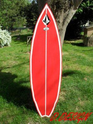 planche de surf en bois