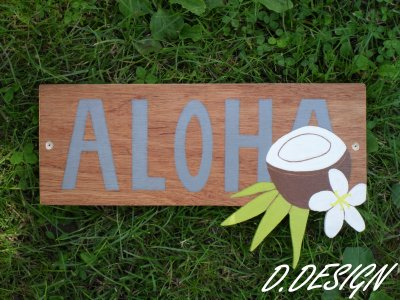 Plaques Aloha et Nature