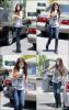 03/07/12 Selena a été photographié rentrant du Starbucks.