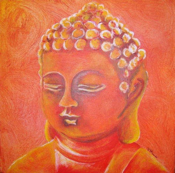 Bouddha au pinceau ou au couteau...