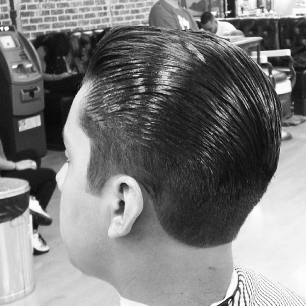 Greasy old school cut