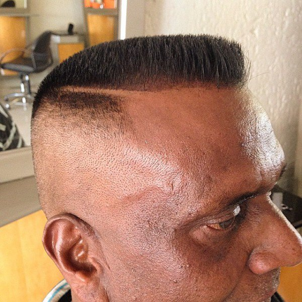 Flattop with shaved part line