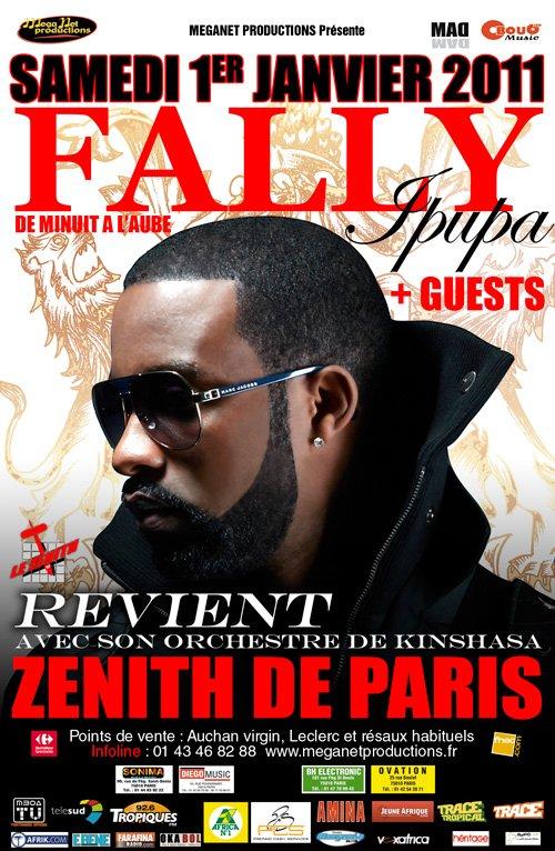 FALLY IPUPA/ SES MUSICIENS DÉBARQUERONS A PARIS LE 1 JANVIER 2011 AU MATIN.
