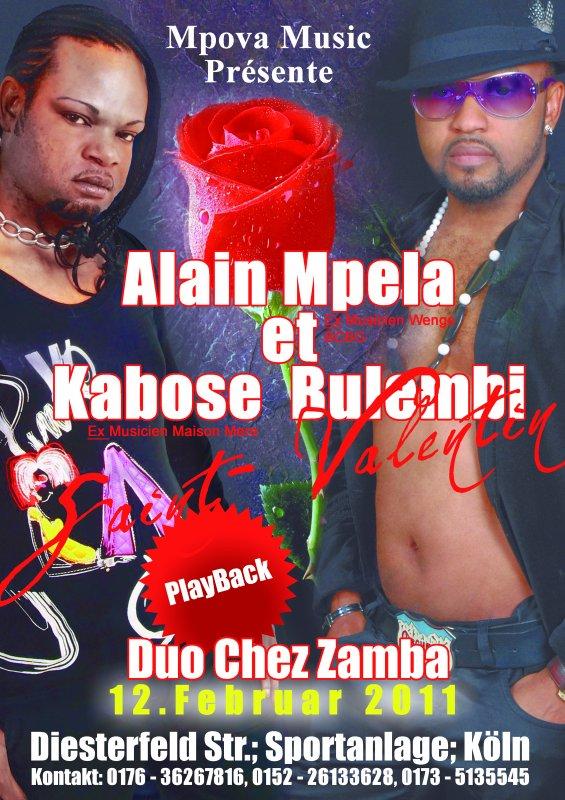 KABOSE BULEMBI ET ALAIN MPELA EN PLAY BACK LE 12 FEVRIER 2011 CHEZ LA ZAMBA/ A KOLN (ALLEMAGNE)