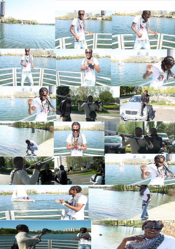 CHALELE DJIKAINS/ Tournage du Clip de la chanson dedié au jeune HÉRITIER SCRAM - (Premières prises)