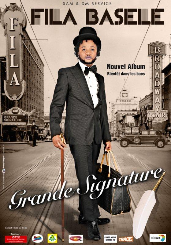 "FILA BASELE BIENTOT L' ALBUM ""GRANDE SIGNATURE"""