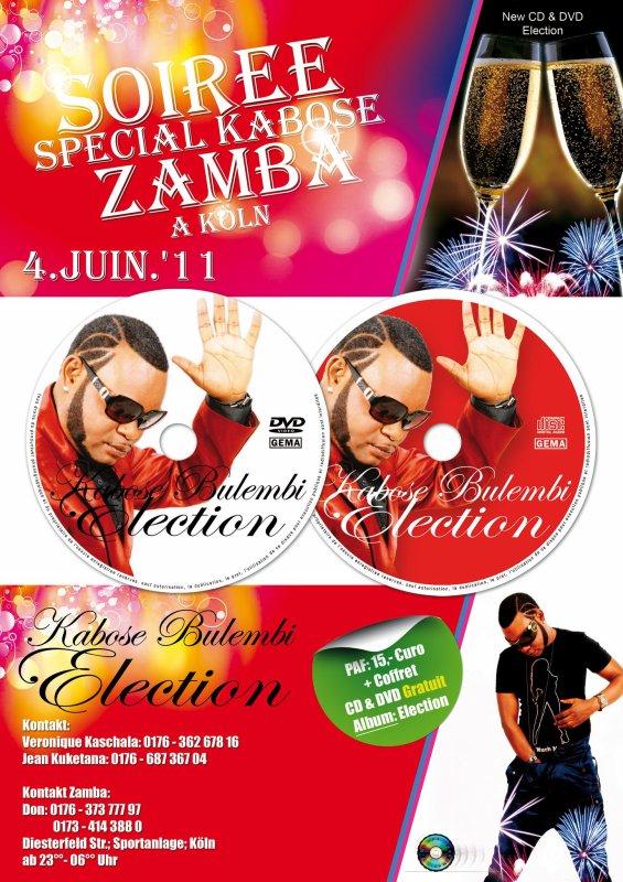 KABOSE BULEMBI SORTIE DE L' ALBUM ELECTION  LE 4 JUIN 2011 + CONFERENCE DE PRESSE LE 3 JUIN 2011