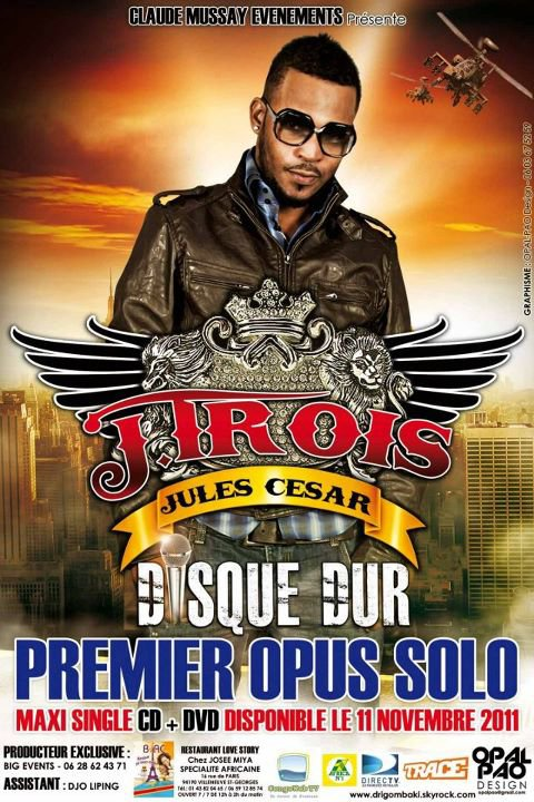 "JITROIS JULES CESAR (EXCLUSIVITÉ CLIPS ""DISQUE DUR"") SORTIE LE 11/11/2011 PRODUCTION CLAUDE MUSSAY POUR BIG EVENTS PROD"