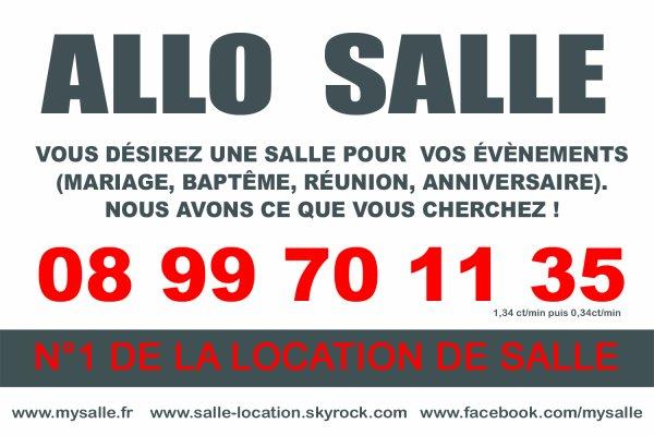 LOCATION DE SALLE POUR VOS ÉVÉNEMENTS