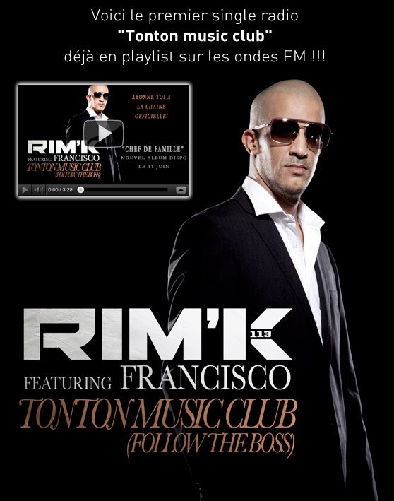 RIM-K DU 113/ NOUVEL ALBUM /CHEF DE FAMILLE DISPONIBLE LE 11 JUIN 2012