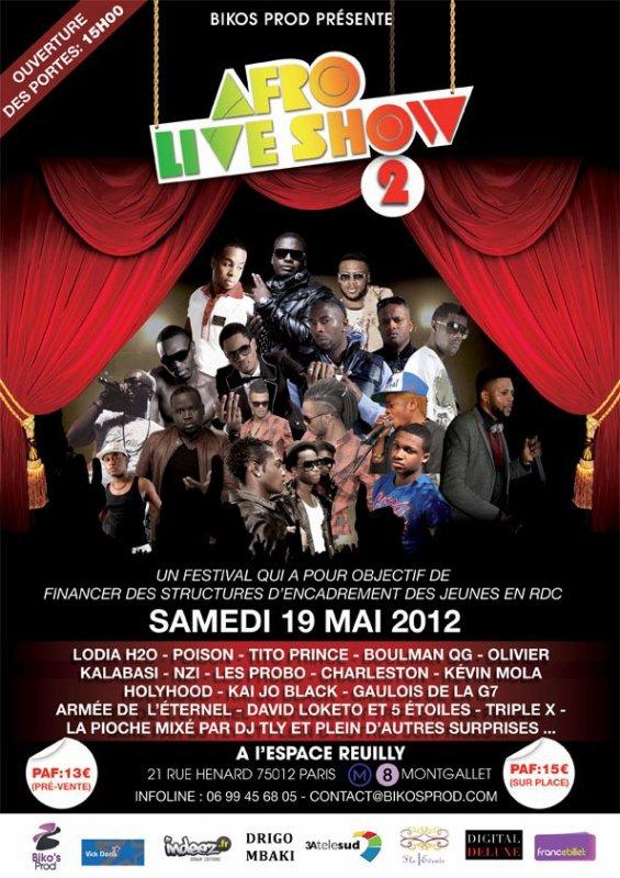 AFRO LIVE SHOW VII - L' AFFRONTEMENT/ PRÉSENTER PAR BELLA RICCI - LE 19 MAI 2012 L' ESPACE REUILLY (PARIS 12)