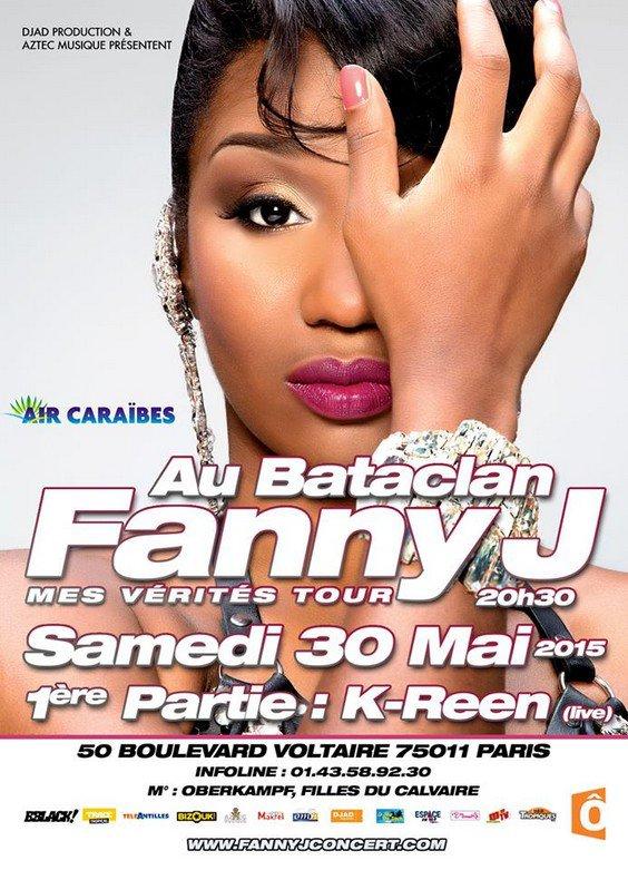 CONCERT FANNY J AU BATACLAN DE PARIS LE 30 MAI 2015