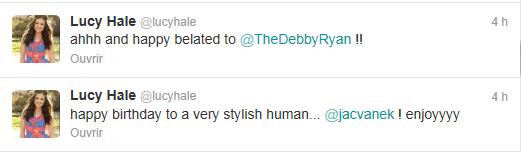 Nouveaux tweets de Lucy Hale ( Il y a 4 heures )