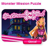 """Jeu """"Monster Mission Puzzle"""" sur """"Winx Club Online"""""""