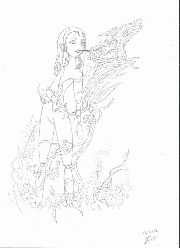 Bien ce que je préfère, c'est dessiner sans réfléchir juste dessiner ^^