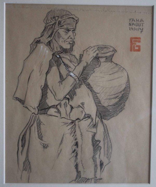 2 dessins Maroc Tahanaout Georges Geo Fourrier