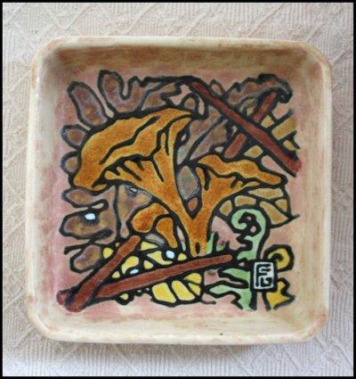 ravier aux champignons n°2 de Georges Geo Fourrier