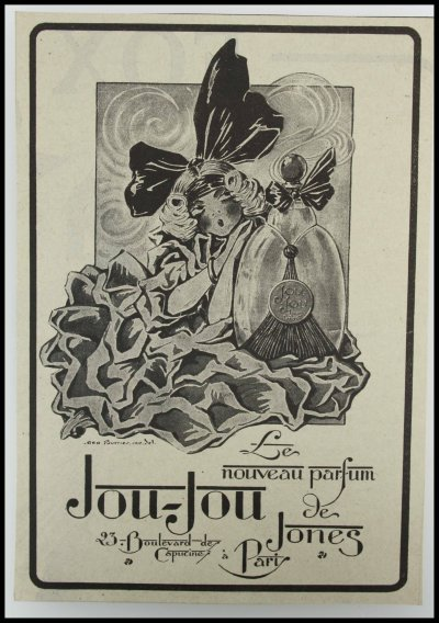 publicité JOU-JOU parfum jones , Georges Geo Fourrier