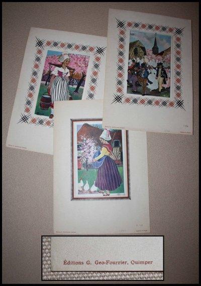 cartes postales HOMUALK  avec support des éditions Georges Geo Fourrier