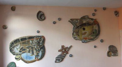 fresque de Geo Fourrier au restaurant LE FILLMORE à Beig Meil