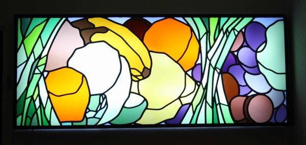 vitrail Eric Boucher d'après un modèle de Georges Geo Fourrier