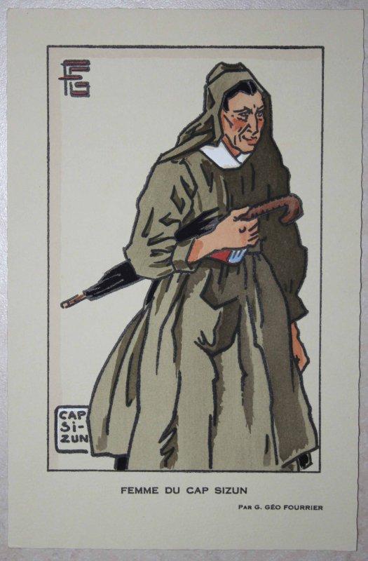 femme du CAP SIZUN par Georges Geo Fourrier