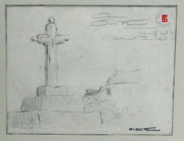 dessin de Georges Geo Fourrier  Le Calvaire Ouessant