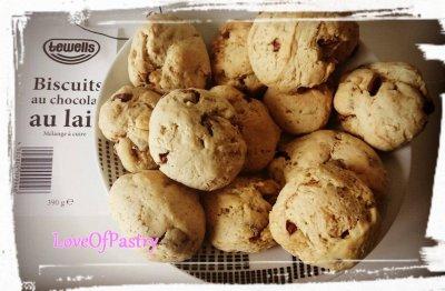 Biscuits ou Cookies au chocolat au lait
