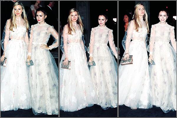 *   7/05/2012 - Lily était présente au  Costume Institute Gala au Metropolitan Museum, à New-York. Pour ma part, je la trouve magnifique. Elle à des airs de poupée *