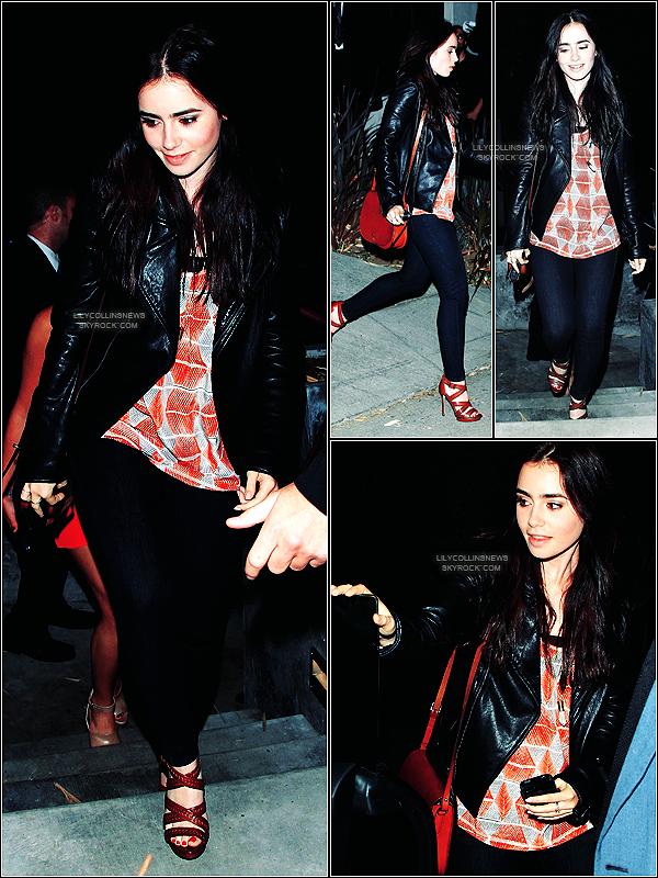 *   11/05/2012 - Miss Collins était présente à Beverly Hills pour les 30 ans de  Cory Monteith  J'adore cette tenue. J'aime particulièrement la veste et les chaussures *