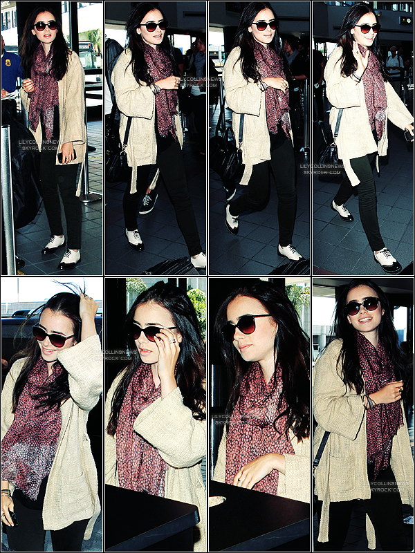 *   26/05/2012 - La belle à été photographié à l'aéroport de Los Angeles J'aime pas les chaussures mais le reste c'est un top *