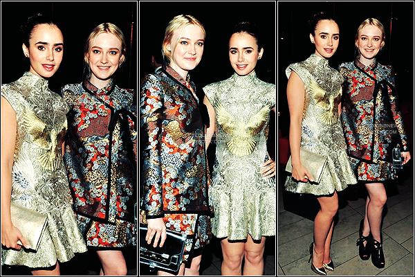 *   04/06/2012 - C'est une Lily scintillante qui c'est présenté au  CFDA Fashion Awards 2012 à New-York Des photos de son arrivé, de l'évènement et de la soirée sont disponible.  *