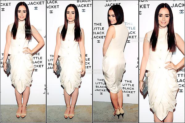 *   06/06/2012 - Lily était à New York pour l'évènement The Little Black Jacket Chanel Exhibit  Dans cette robe Chanel, Lily était plus que magnifique. Je la trouve très classe. *
