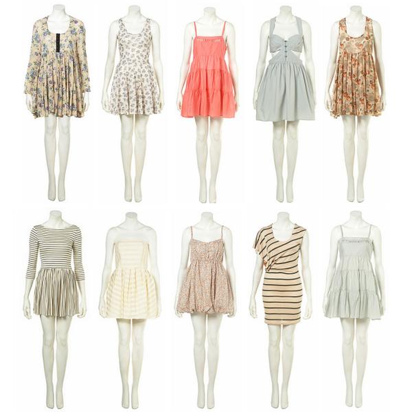 Robes d'été par Topshop. Une préférence ?