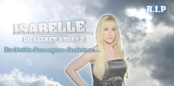 Isabelle de Secret Story 2 est décédée !!