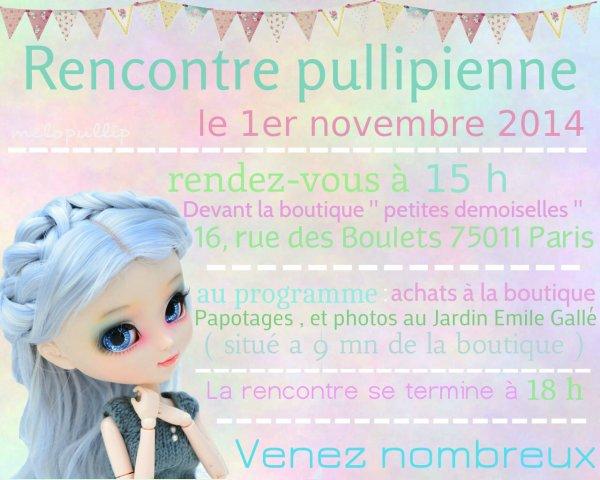 """Rencontre pullipienne le 1er Novembre a la boutique  petites demoiselles """""""