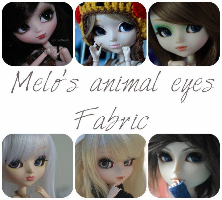 Melo's animal eyes fabric ♥︎