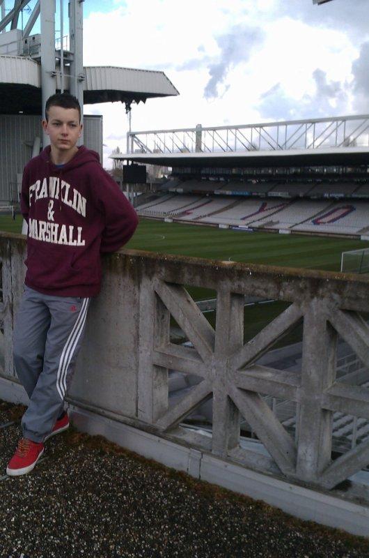 Moi au stade de lyon (gerland) ! :)