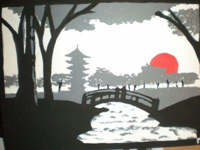 Peinture 13 Paysage Japonais Blog De Mstrawberry