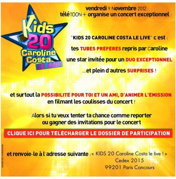 Concours Kids20 le live !!
