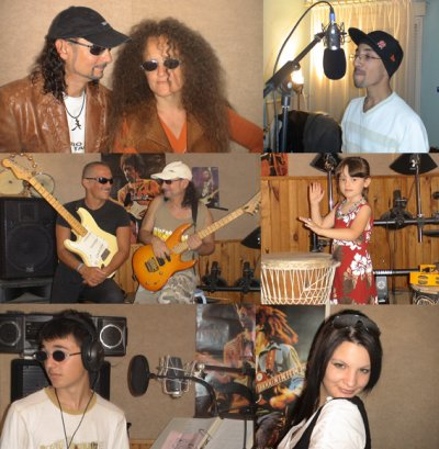 On enregistre dans la bonne humeur,hahaha!!!